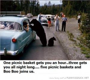 Funny Bear Warning