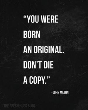 ... An Original...a word on originality | fresh hues | color + inspiration