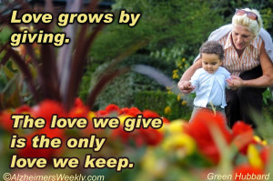 Alzheimer's Quotes Of Love http://www.alzheimersweekly.com/2013/03 ...