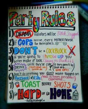 party #rules #party rules #follow #these