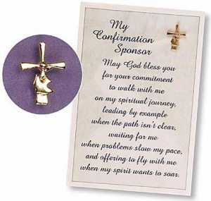 Confirmation Sponsor Pin & Card