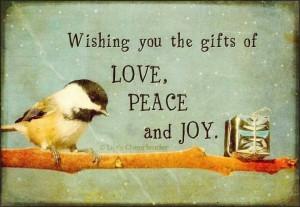Love, peace, joy