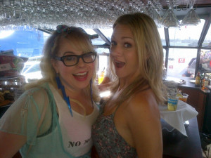 Cook and Kirsten Vangsness on the TV Guide Yacht at Comic-Con ...