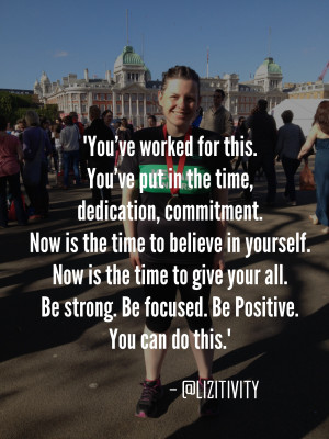 Fitness motivation image with quote from blogger Lizitivity: You've ...