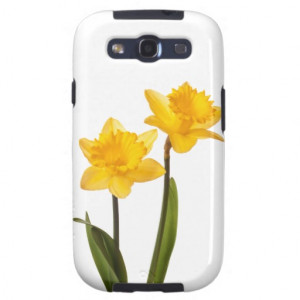Yellow Daffodils on White - Daffodil Flower Blank Galaxy S3 Cover