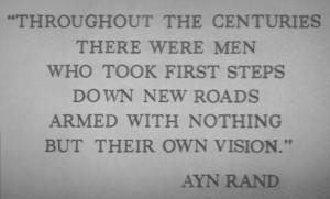 ... Ayn Rands utläggningar om individualism. Så … här får ni titta