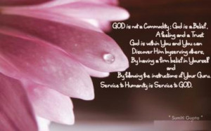 of Your Guru Master Service to Humanity is Service to GOD