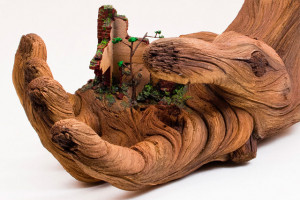 Cycle of Decay: A Sculpted Ceramic Hand that Looks Like a Carved Tree ...