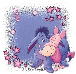 heart eeyore collage eeyore blinkie rabbit with carrots eeyore piglet