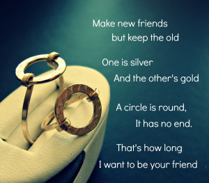 Friendship quotes. Circle ring.