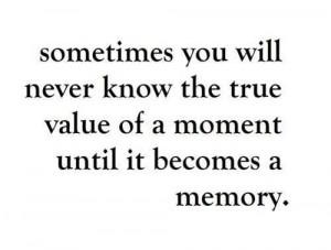 Value of memories