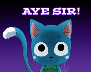Fairy Tail Happy #1.1 COLOURED by justkyledavid