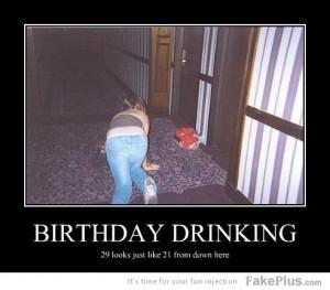 birthday drinking