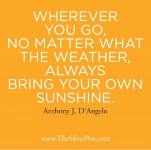 Sunshine – Anthony J. D'Angelo