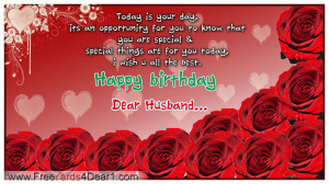 ... you…you are my loving husband, wishing you a very happy birthday