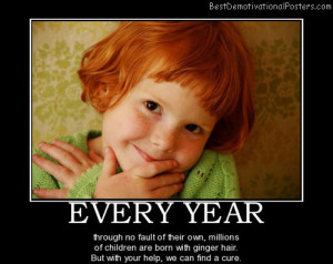 ... are born with ginger hair. But with your help, we can find a cure