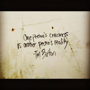 love this. ~ Tim Burton quote