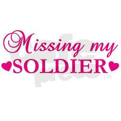 Navy Wife Quotes | Missing My Soldier (Pink) Ceramic Travel Mug