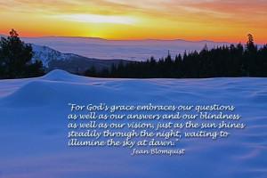 God's grace illumines