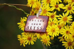 Follow Your Bliss Rustic Necklace with Hand Engraved Inspirational ...