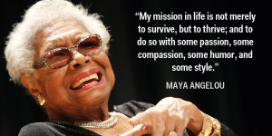 Dr. Maya Angelou Has Gone Home to Glory!