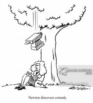 Newton cartoons, Sir Isaac Newton cartoon, funny, Sir Isaac Newton ...