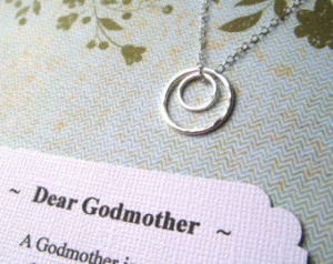 ... Different Poems Godmother Gift Godmother Necklace Sterling Silver