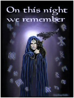 Blessed Samhain. Blessed new year.