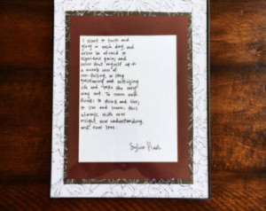 Popular items for sylvia plath quote