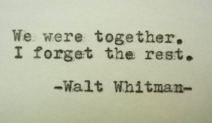 WALT WHITMAN Quote Handtyped Typewriter Quote Typed with Vintage ...