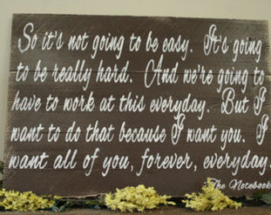 ... Wall Art Rustic The Notebook Quote Handpainted Sign Rustic Vintage