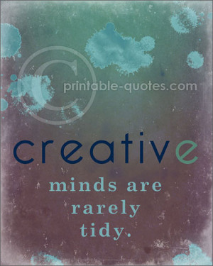 Printable Art & Creativity Quotes {Set of 5} Caution, paint splatters!