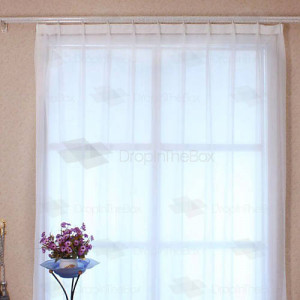 Arts and Crafts Style Sheer Curtains
