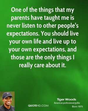 Inspirational quotes tiger woods quote golf in this happy life