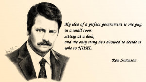 Oh Ron Swanson, You're So Wise