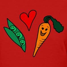 peas love carrots cute vegetarian vegetable t shirt designed by ...