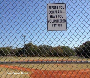 Best sign ever placed on the little league field.....EVER!Chainlink ...