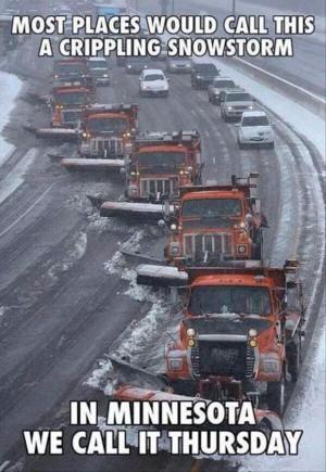 snow storm in Minnesota.