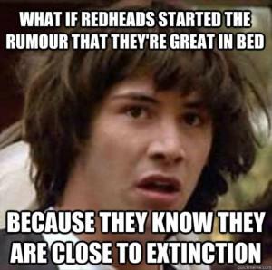 keanu reeves meme funny redheads in bed