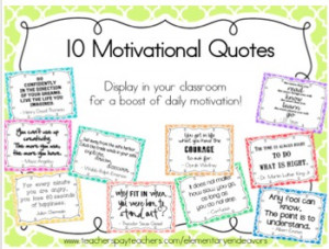 Motivational Quotes for Classroom Decor