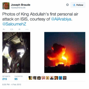 ... call ISIS what they are and King Abdullah is personally bombing them