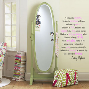 audrey hepburn vinyl wall quotes.
