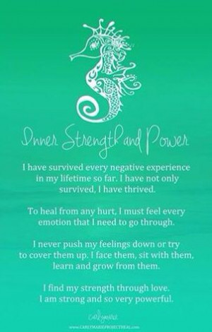 Affirmations/ inner strength and power