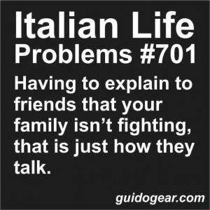 Being Italian!