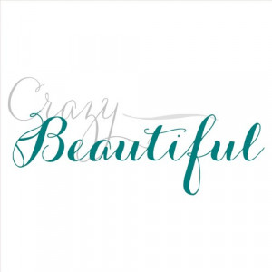 Crazy Beautiful vinyl lettering home wall decal decor art quote