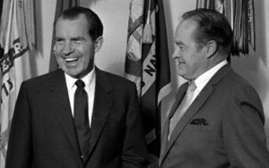 Bob Hope and President Richard Nixon in 1969 at the White House