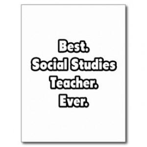 Social Studies Teacher Postcards