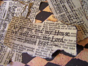 10 Bible Quotes on Vintage Bible Pages Joshua 24 15 As For Me and my ...