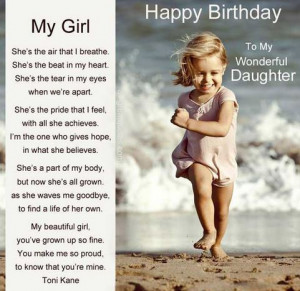 Happy Birthday Wishes For Daughter From Mom And Dad with Image: