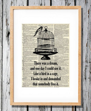 Bird on a Cage - Avett Brothers Quote Head full of Doubt - Art Print ...